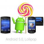 2011年 Xperia Model の lollipop OS 5.0.2 Rom が公開