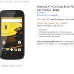 3G版 Moto E 2nd Gen XT1505 が Amazon.com で販売開始