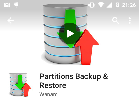 PartitionsBackup