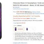 Motorola Moto X4 が 海外の Amazon でオーダー開始